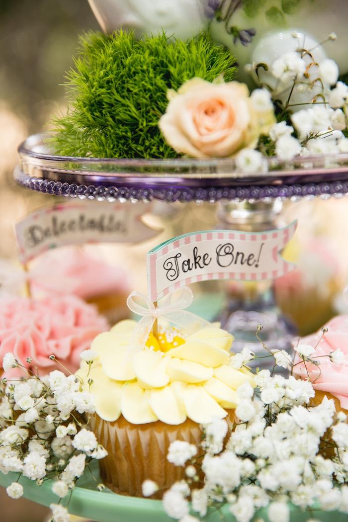Cupcake from a Vintage Tea Party on Kara's Party Ideas | KarasPartyIdeas.com (50)