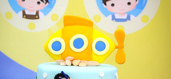 Yellow Submarine Ocean Birthday Party on Kara's Party Ideas | KarasPartyIdeas.com (2)