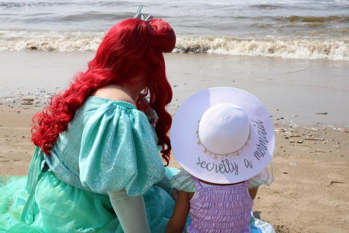 """Secretly a mermaid"" hat from a Seaside Mermaid Birthday Party on Kara's Party Ideas | KarasPartyIdeas.com (8)"