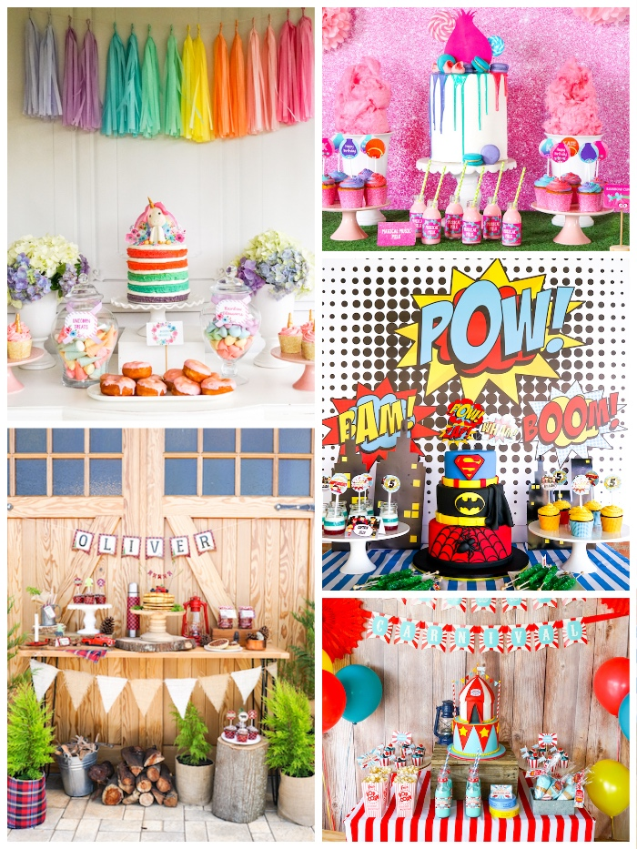 10 Most Popular Parties Round Up from Sunshine Parties on Kara's Party Ideas | KarasPartyIdeas.com