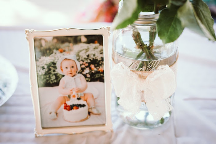 Decor from a 1st Birthday Garden Party on Kara's Party Ideas | KarasPartyIdeas.com (12)