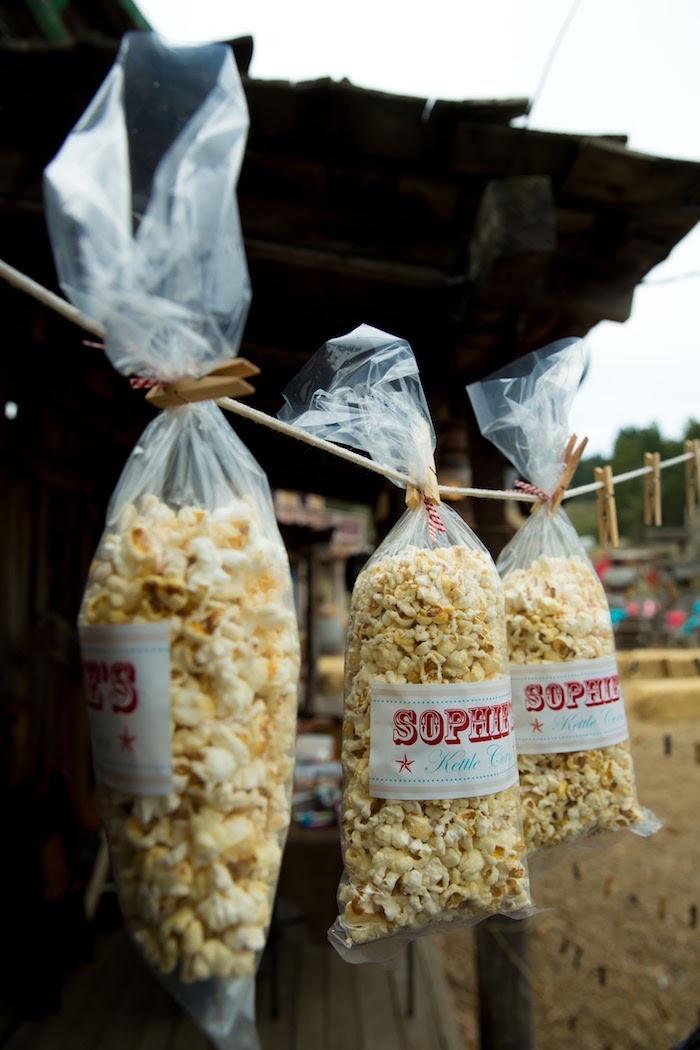 "Popcorn bags from a ""Barn"" Mitzvah - A Barnyard Themed Bat MItzvah on Kara's Party Ideas | KarasPartyIdeas.com (10)"