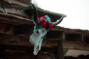 "Skull from a ""Barn"" Mitzvah - A Barnyard Themed Bat MItzvah on Kara's Party Ideas   KarasPartyIdeas.com (9)"