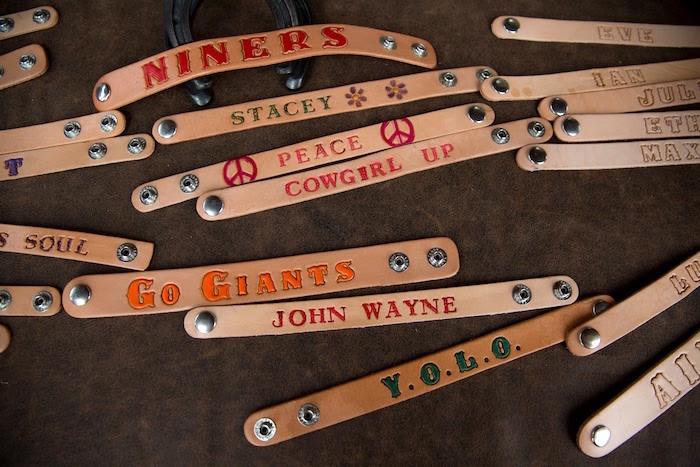 "Leather bracelets from a ""Barn"" Mitzvah - A Barnyard Themed Bat MItzvah on Kara's Party Ideas | KarasPartyIdeas.com (7)"