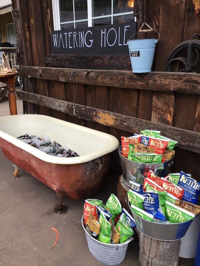 "Watering Hole from a ""Barn"" Mitzvah - A Barnyard Themed Bat MItzvah on Kara's Party Ideas 