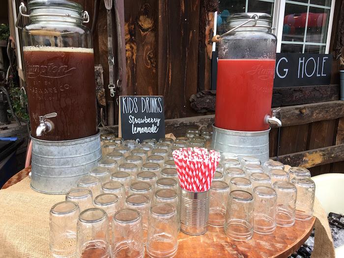 "Beverage bar from a ""Barn"" Mitzvah - A Barnyard Themed Bat MItzvah on Kara's Party Ideas | KarasPartyIdeas.com (23)"