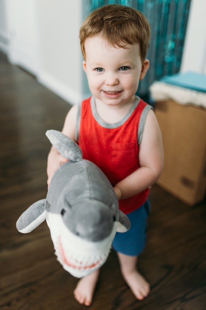 """Chomp"" Shark Themed Birthday Party on Kara's Party Ideas 