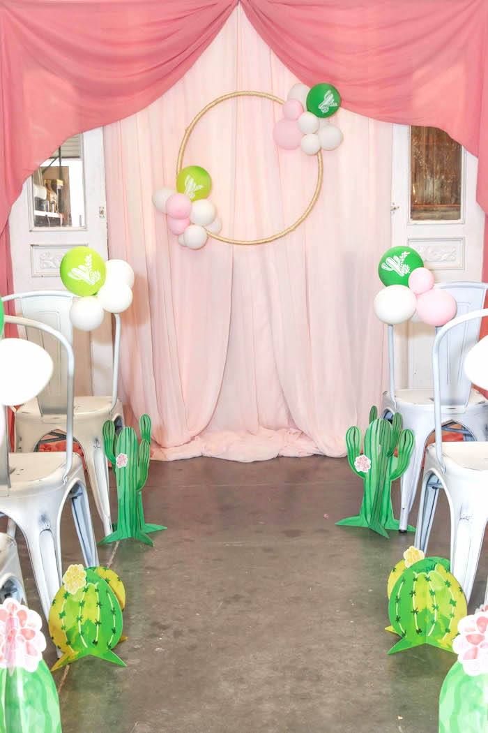 Kara S Party Ideas Quot Love Grows Here Quot Cactus Themed Wedding
