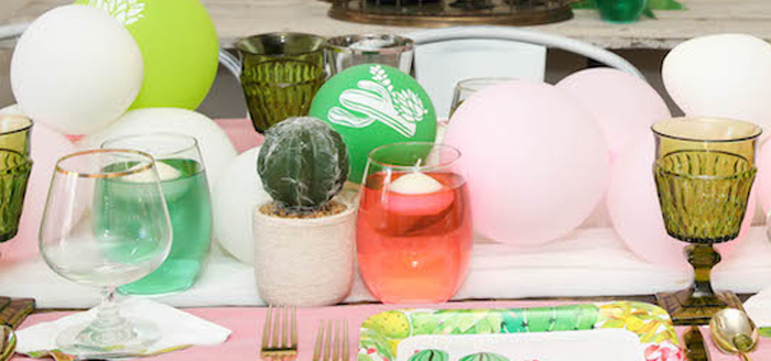 """Love Grows Here"" Cactus Themed Wedding on Kara's Party Ideas 