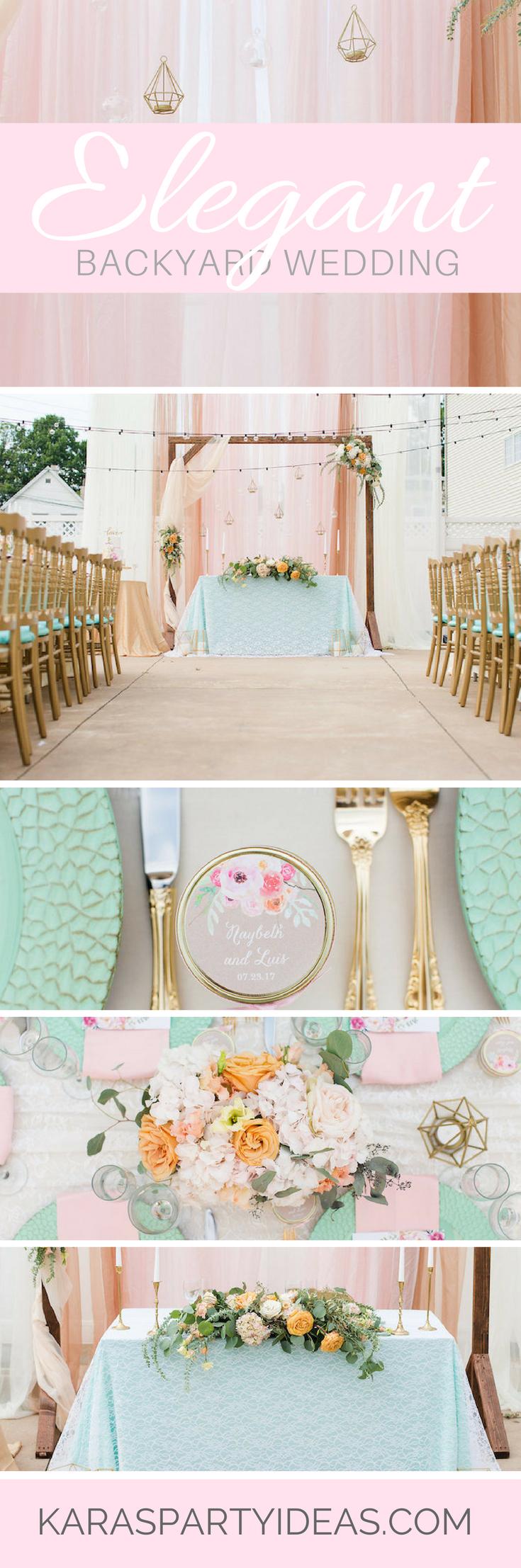 Kara\'s Party Ideas Elegant Backyard Wedding | Kara\'s Party Ideas