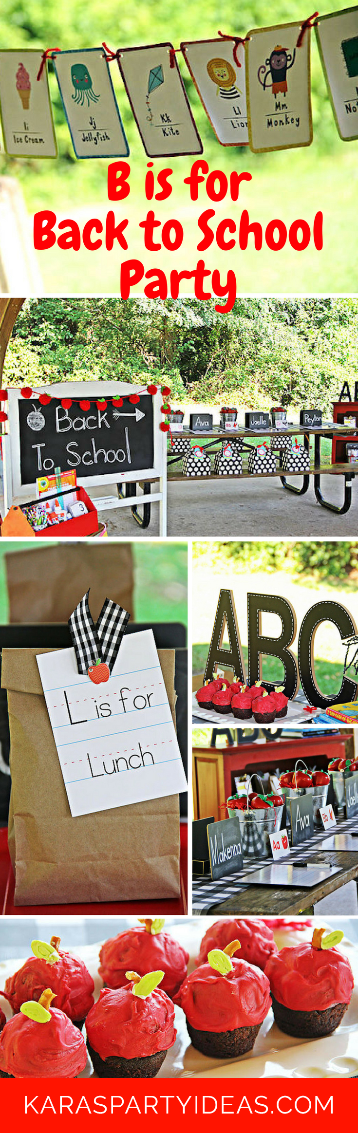 B is for Back to School Party via Kara's Party Ideas
