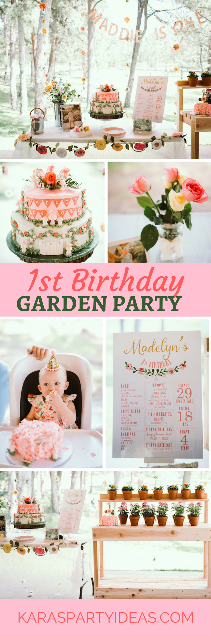 1st Birthday Garden Party via Kara's Party Ideas