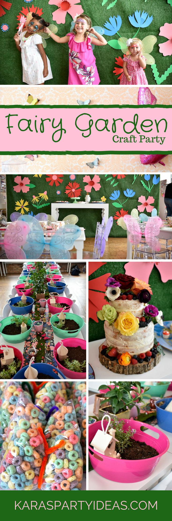 Fairy Garden Craft Party via Kara's Party Ideas