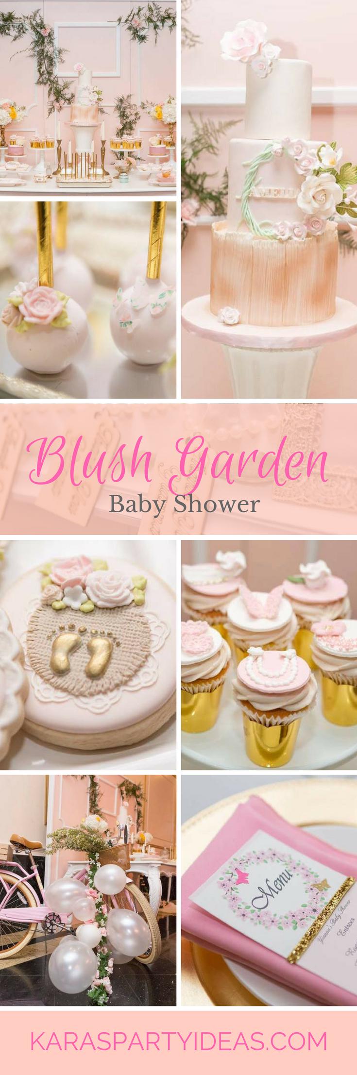 Blush Garden Baby Shower via Kara's Party Ideas