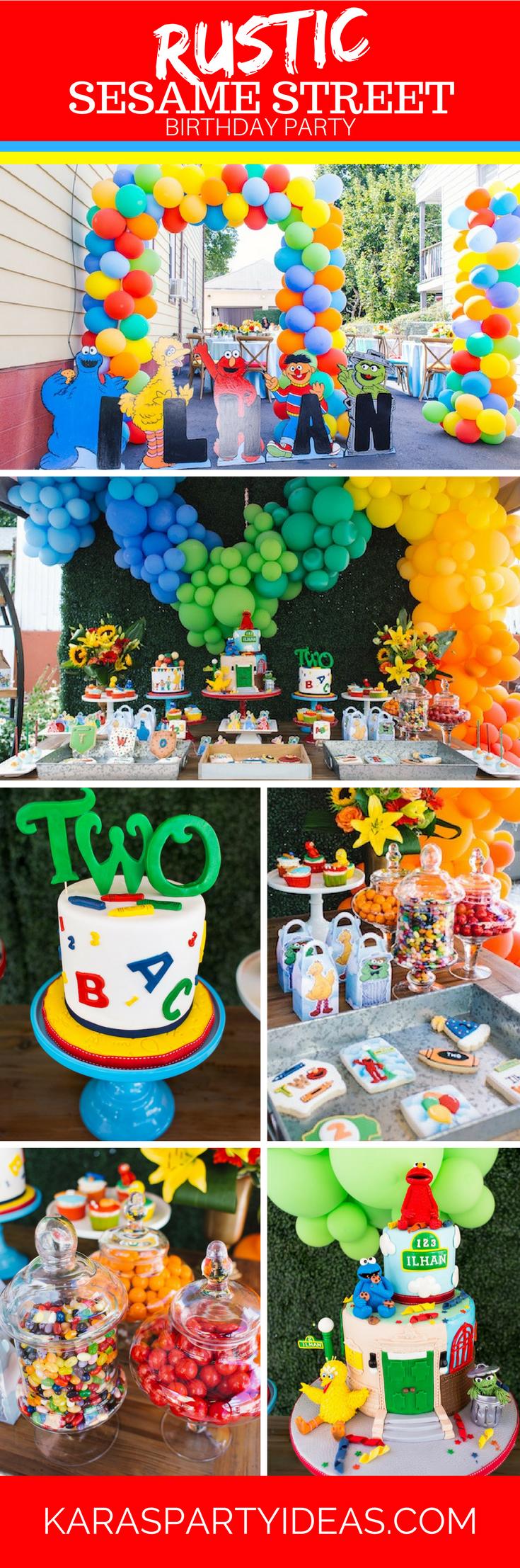 Rustic Sesame Street Birthday party via Kara's Party Ideas