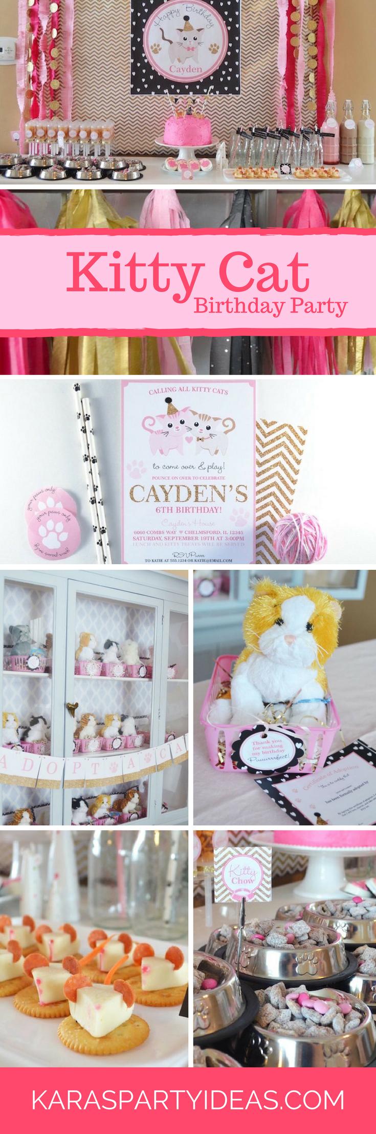 Kitty Cat Birthday Party via Kara's Party Ideas | KarasPartyIdeas.com