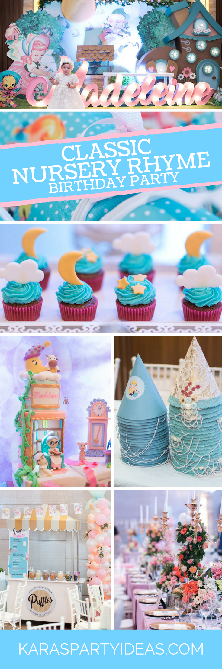 Kara S Party Ideas Classic Nursery Rhyme Birthday Party Kara S Party Ideas