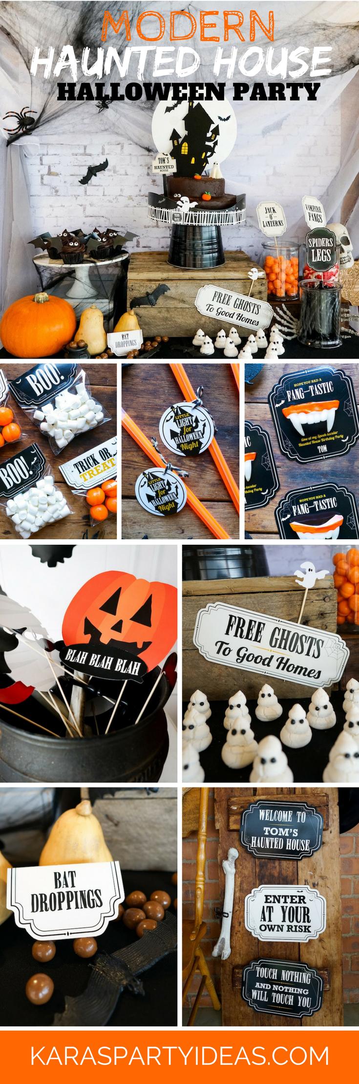 Modern Haunted House Halloween Party via Kara's Party Ideas | KarasPartyIdeas.com