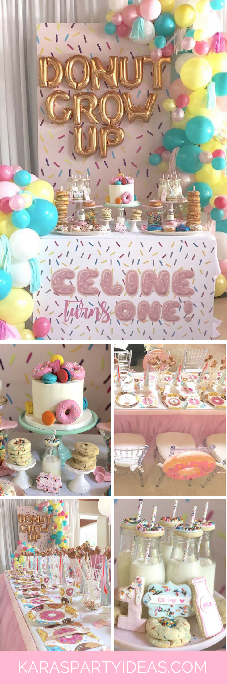 "Kara's Party Ideas ""Donut"" Grow Up 1st Birthday Party ..."