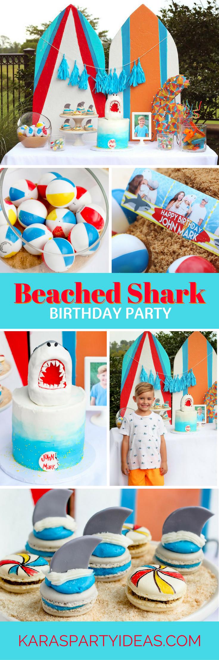 Beached Shark Birthday Party via Kara's Party Ideas