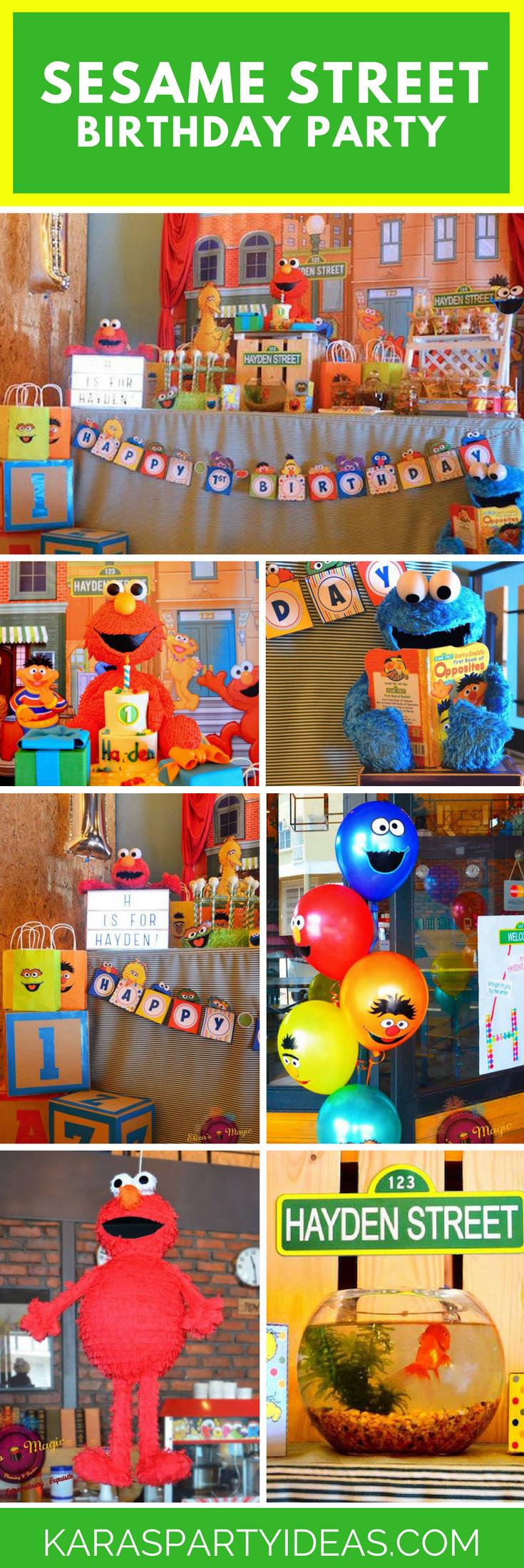 sesame street birthday party via Kara's Party Ideas