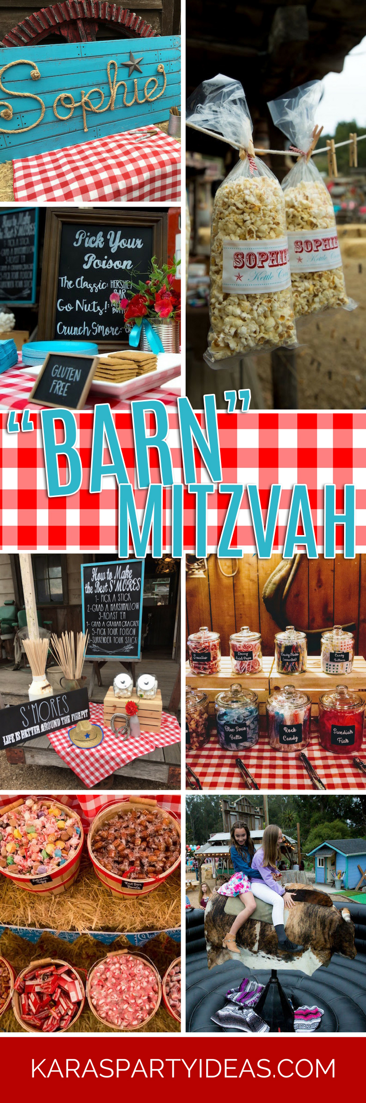 """Barn"" Mitzvah - A Barnyard Themed Bat Mitzvah via Kara's Party Ideas"