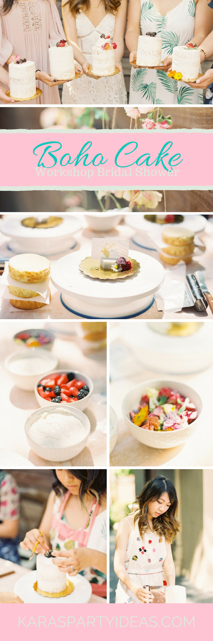 Boho Cake Workshop Bridal Shower via Kara's Party Ideas