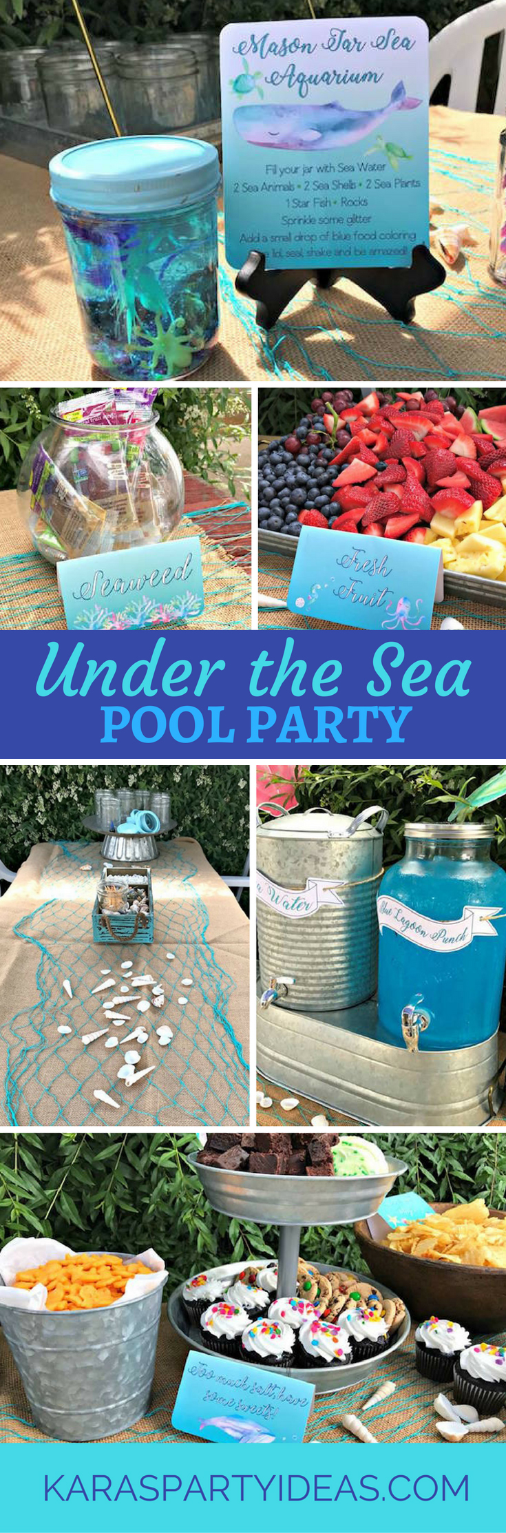 Under the Sea Pool Party via Kara's Party Ideas