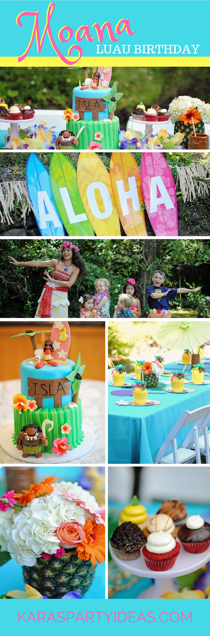 Moana Luau Birthday Party via Kara's Party Ideas