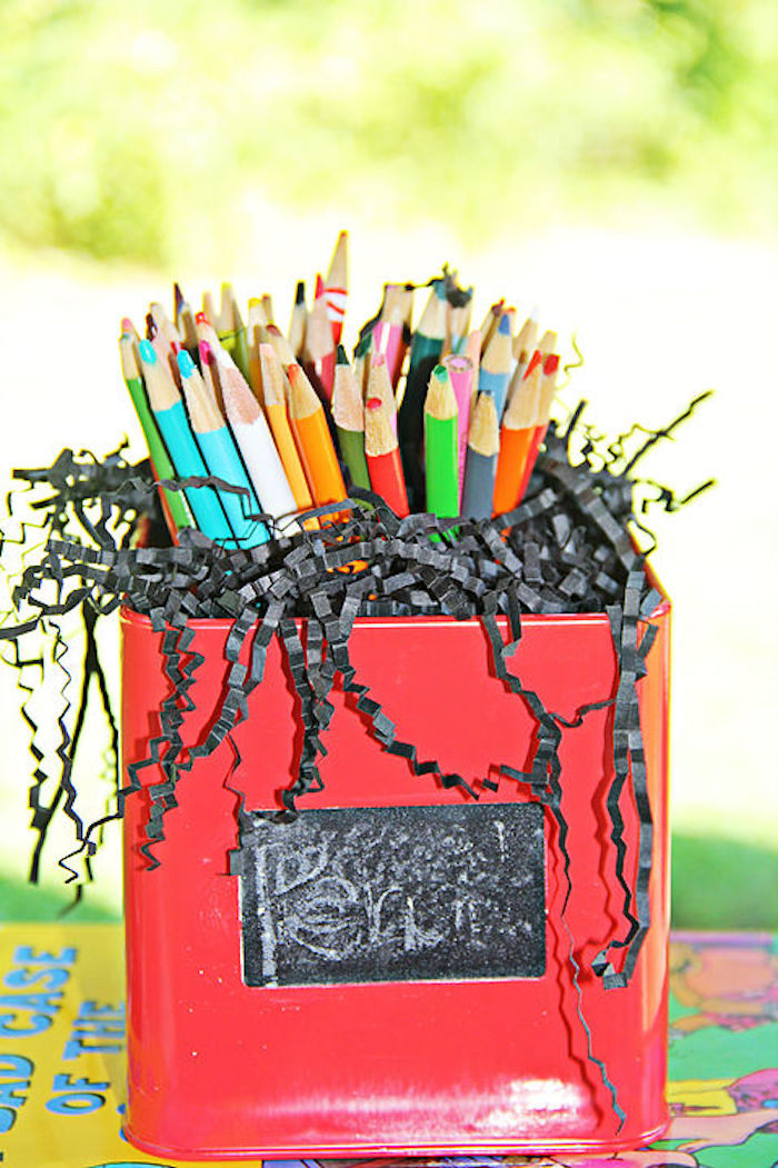 Colored pencils from a B is for Back to School Party on Kara's Party Ideas | KarasPartyIdeas.com (19)
