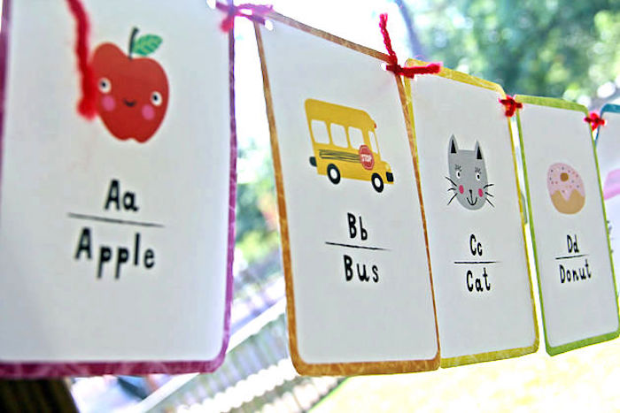 Banner from a B is for Back to School Party on Kara's Party Ideas | KarasPartyIdeas.com (16)