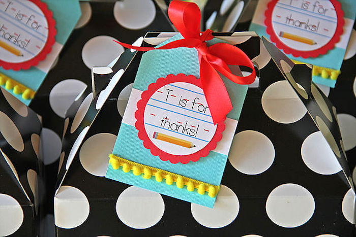 Favors from a B is for Back to School Party on Kara's Party Ideas | KarasPartyIdeas.com (10)