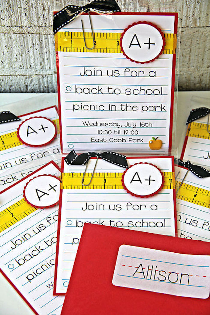 Invitation from a B is for Back to School Party on Kara's Party Ideas | KarasPartyIdeas.com (8)