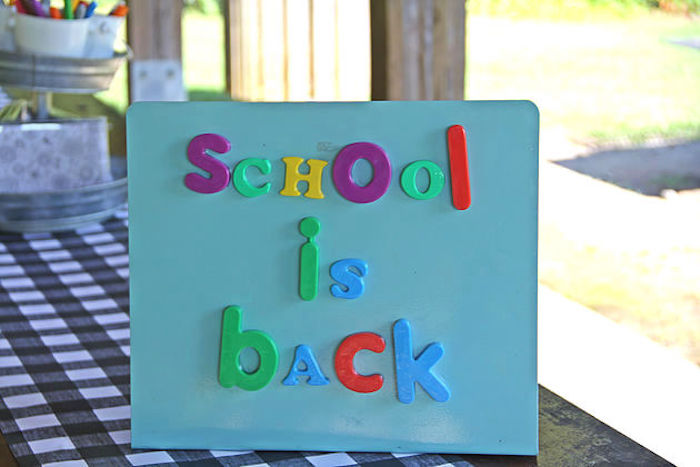 Magnet letter board sign from a B is for Back to School Party on Kara's Party Ideas | KarasPartyIdeas.com (7)