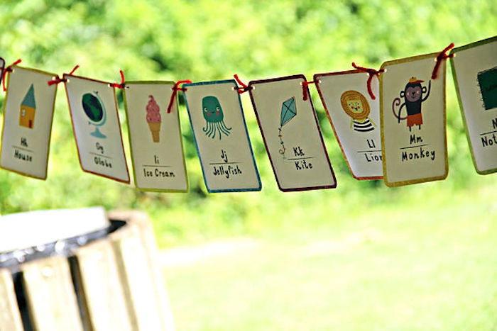 Alphabet-inspired banner from a B is for Back to School Party on Kara's Party Ideas | KarasPartyIdeas.com (6)