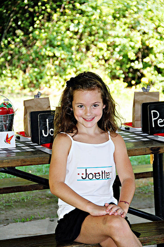 Custom shirt from a B is for Back to School Party on Kara's Party Ideas | KarasPartyIdeas.com (26)