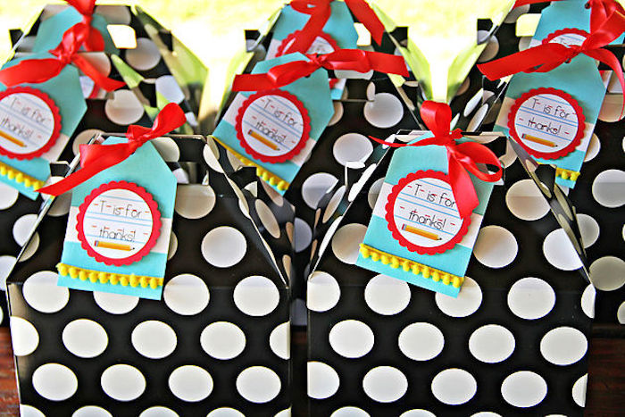 Gable favor boxes from a B B is for Back to School Party on Kara's Party Ideas | KarasPartyIdeas.com (23)