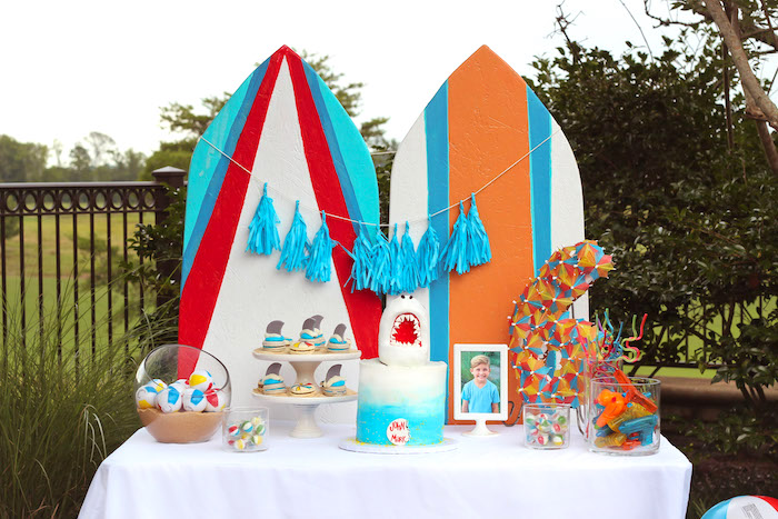 Beached Shark Birthday Party on Kara's Party Ideas | KarasPartyIdeas.com (16)