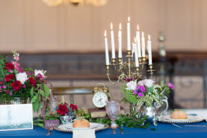 Guest table from a Beauty and the Beast Inspired Wedding on Kara's Party Ideas | KarasPartyIdeas.com (39)