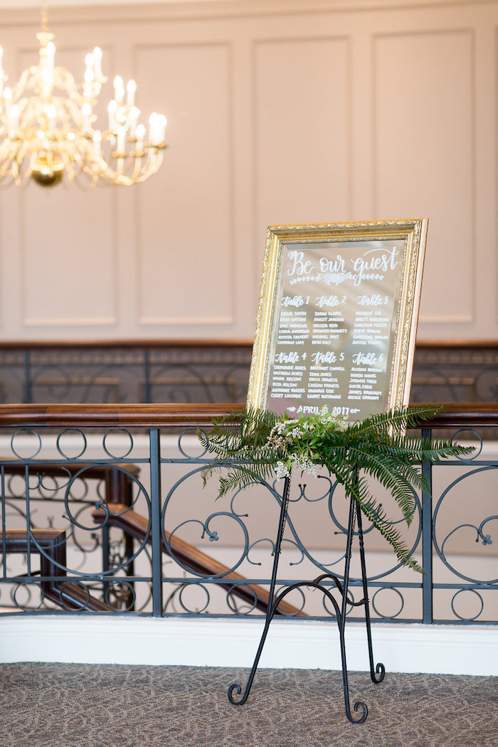 Seating chart from a Beauty and the Beast Inspired Wedding on Kara's Party Ideas | KarasPartyIdeas.com (37)