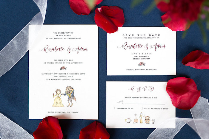 Invitations from a Beauty and the Beast Inspired Wedding on Kara's Party Ideas | KarasPartyIdeas.com (36)
