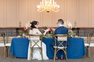 Head table from a Beauty and the Beast Inspired Wedding on Kara's Party Ideas | KarasPartyIdeas.com (34)