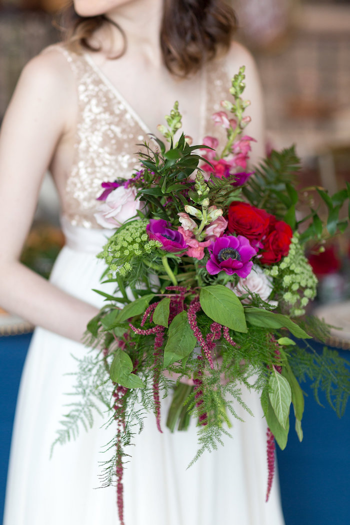 Wildflower bouquet from a Beauty and the Beast Inspired Wedding on Kara's Party Ideas | KarasPartyIdeas.com (29)