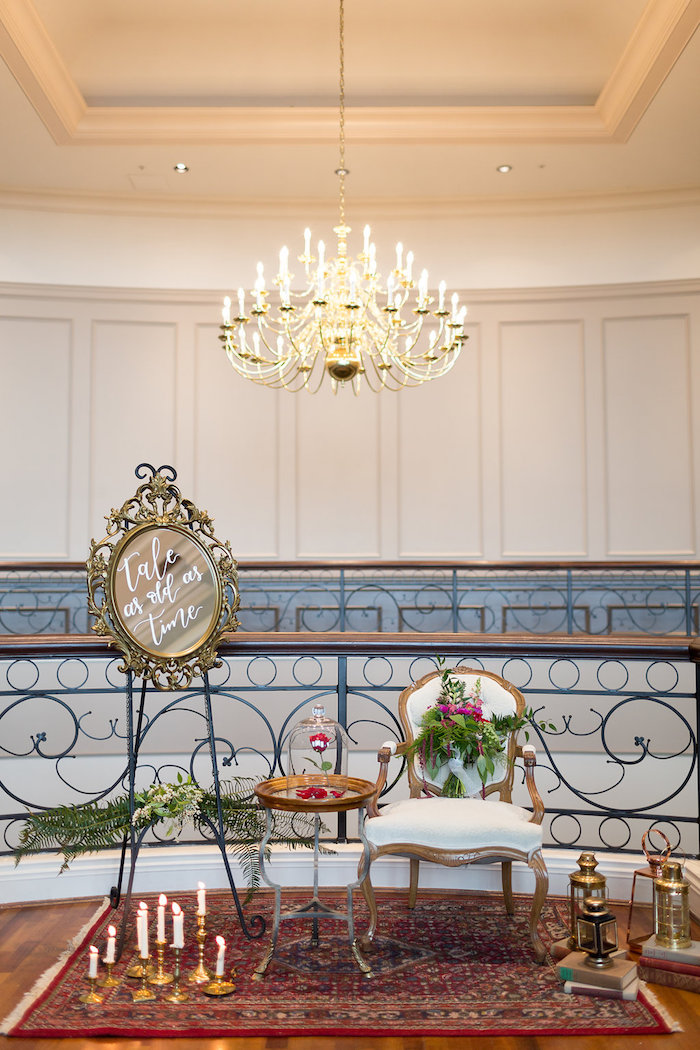 Tale As Old As Time Lounge from a Beauty and the Beast Inspired Wedding on Kara's Party Ideas | KarasPartyIdeas.com (25)