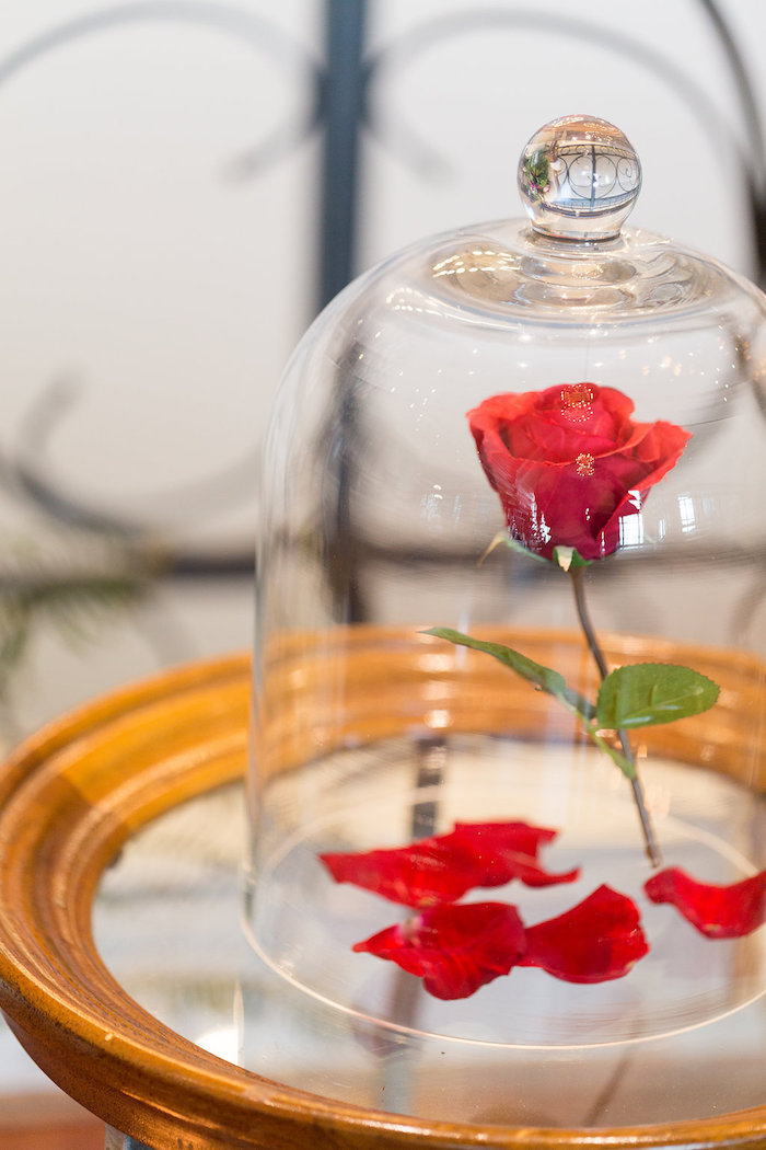 Enchanted Rose from a Beauty and the Beast Inspired Wedding on Kara's Party Ideas | KarasPartyIdeas.com (20)