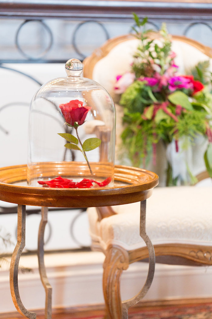 Enchanted Rose from a Beauty and the Beast Inspired Wedding on Kara's Party Ideas | KarasPartyIdeas.com (19)