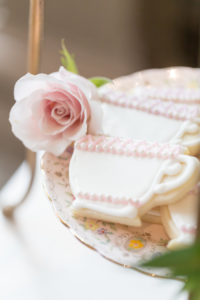 Tea cup cookies from a Beauty and the Beast Inspired Wedding on Kara's Party Ideas | KarasPartyIdeas.com (12)