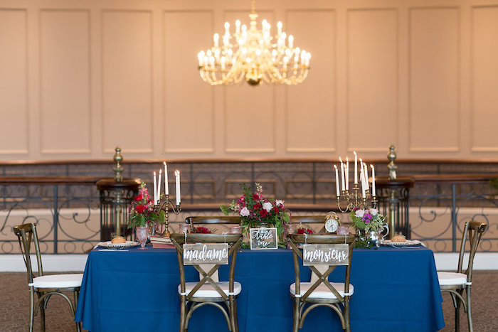 Head dining table from a Beauty and the Beast Inspired Wedding on Kara's Party Ideas | KarasPartyIdeas.com (47)