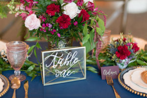 Table number signage from a Beauty and the Beast Inspired Wedding on Kara's Party Ideas | KarasPartyIdeas.com (45)