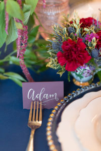 Place card from a Beauty and the Beast Inspired Wedding on Kara's Party Ideas | KarasPartyIdeas.com (44)